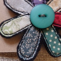 Textile-flower-pin